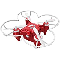 SBEGO 124+ Upgrade Mini RC Drone with LED Flash Light 2.4G 4CH 6 Axis Gyro Headless mode One Key Return Micro Pocket Quadcopter Drone for kids (Red)