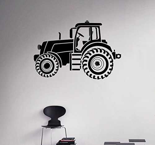 Tractor Wall Vinyl Decal Farm Vinyl Sticker Kids Children Nursery Home Interior Removable Decor Housewares Design ()