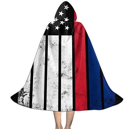 Decopik Children's Distressed Liechtenstein American Flag Hooded