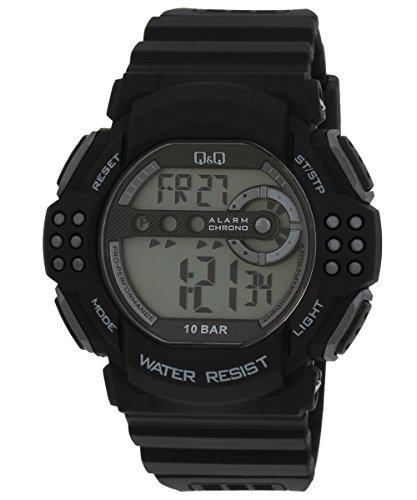 Q amp;Q Regular Digital White Dial Men #39;s Watch   M128J002Y