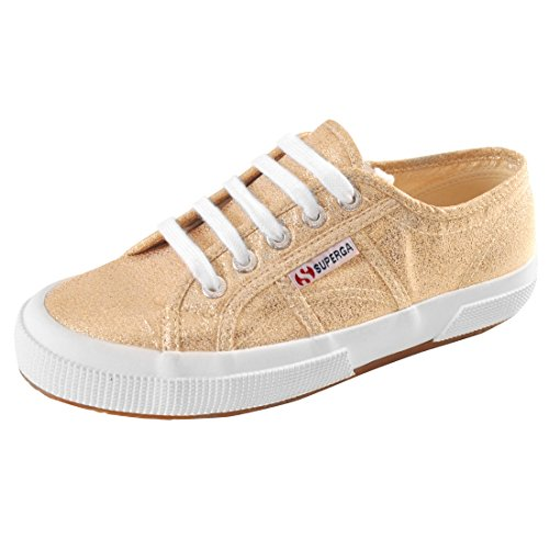 Superga 2750 Lamew, Women's Low-Top Sneakers Gold