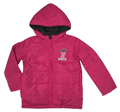 (Harley-Davidson Girls Youth #1 Logo with B&S Packable Puffer Pink Jacket -Kids-6)