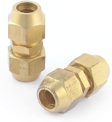 uxcell クイックカプラー クイックカプラカップリング 空気ホース 空気圧フィッティング 8mmチューブ径 2個
