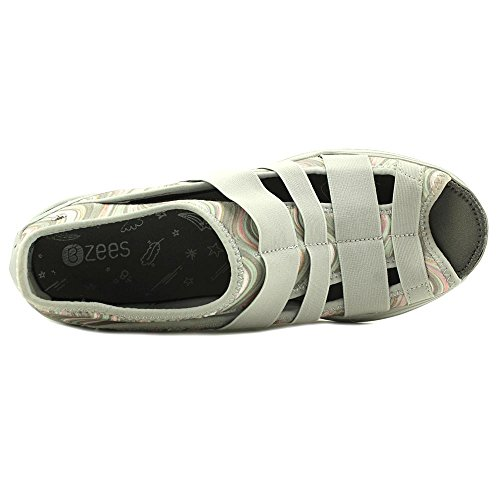 Pictures of BZees Womens Frill Fabric Peep Toe Boat Shoes 7.5 M US 4
