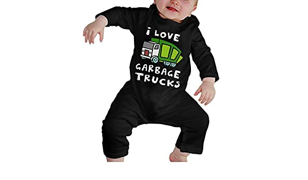 I Love Trash Garbage Trucks Suit 6-24 Months Baby Short Sleeve Baby Clothes Climbing Clothes