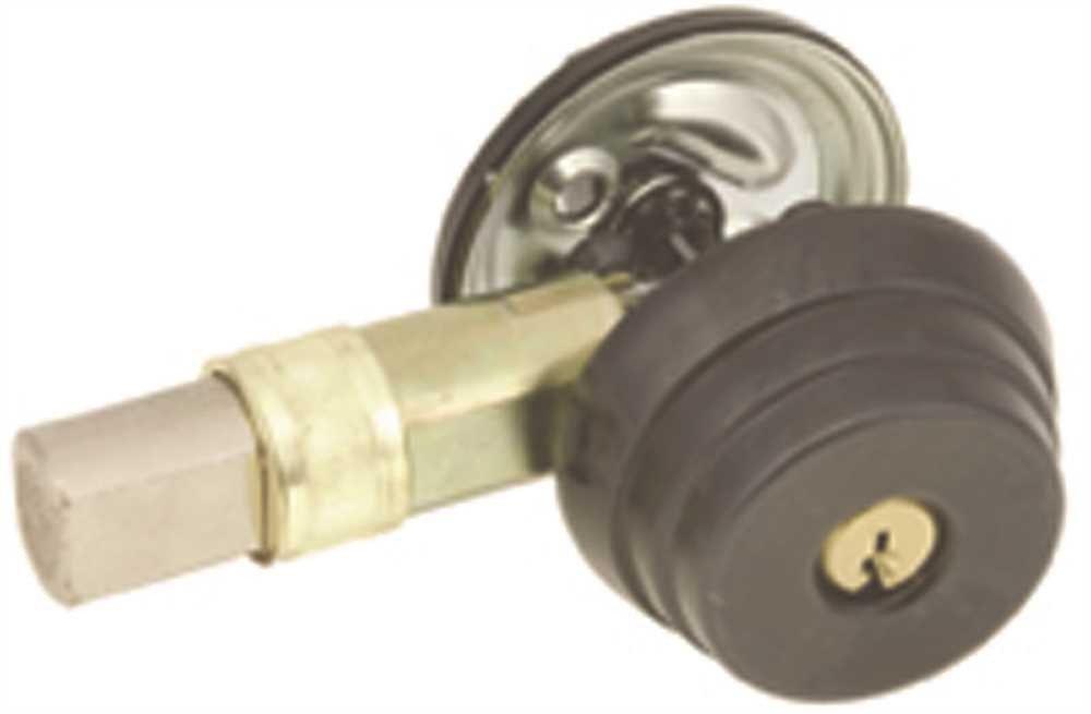 US Lock N1680 Ser Deadbolt Sgl Cyl 2-3/8'' Di Bs Sc1 Oil Rb Bronze
