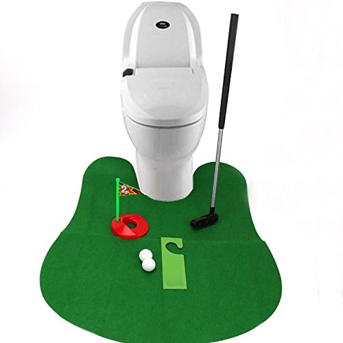 zorvoトイレトイレゴルフゲームミニゴルフセットGolf Putting Greenノベルティバスルームゲーム玩具ギフト   B079R8X21Y