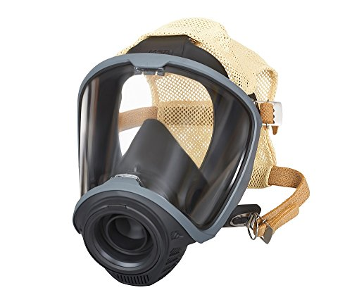 MSA 10161810 Facepiece, G1, Fire Service, Nose Cup with 4 Point Adjustable Cloth Head Harness, Medium -  MSA Safety