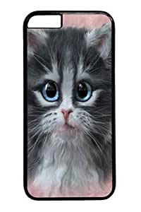 For Apple Iphone 5C Case Cover and Cover -Pretty in Pink Kitten PC For Apple Iphone 5C Case Cover inch Black