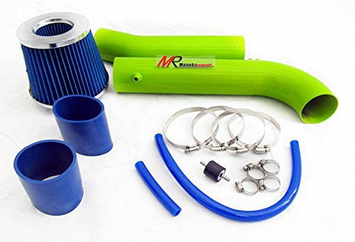 95 96 97 98 99 00 01 02 Honda Accord V6 2.7L/3.0L GREEN Piping Cold Air Intake System Kit with Blue Filter