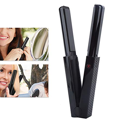 Cordless Flat Iron,Mini Travel USB Rechargeable Battery Operated Cordless Hair Straightener,3200mAh Lithium Battery Straightening and Curling Iron Portable for Dating,Meeting,Traveling,Camping