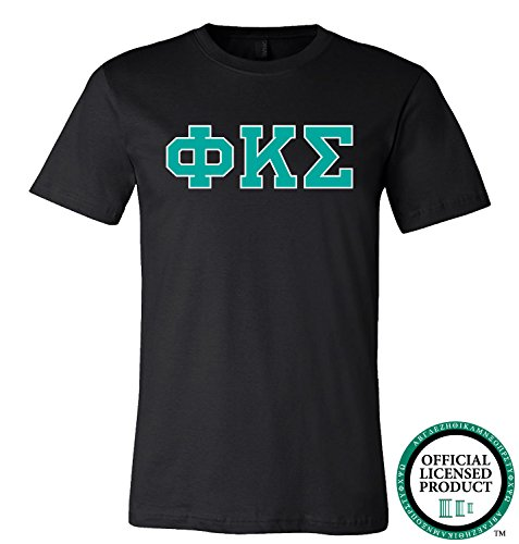 PHI KAPPA SIGMA | Turquoise Letters - Licensed Unisex T-shirt