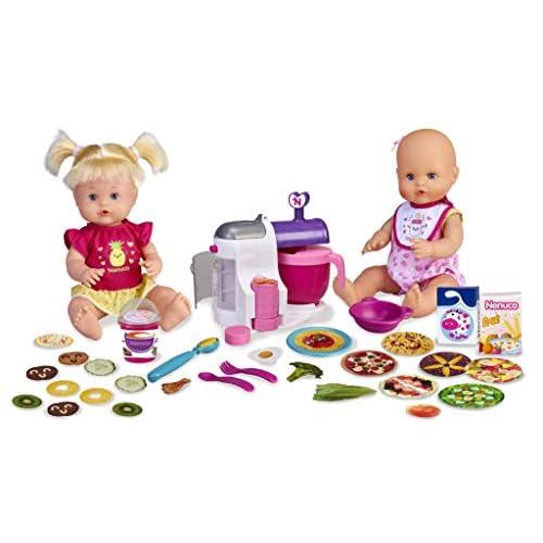 Nenuco Hermanitas Traviesas en la Cocina 2 Muñecas Bebés Comiditas Multicolor Famosa 700015155