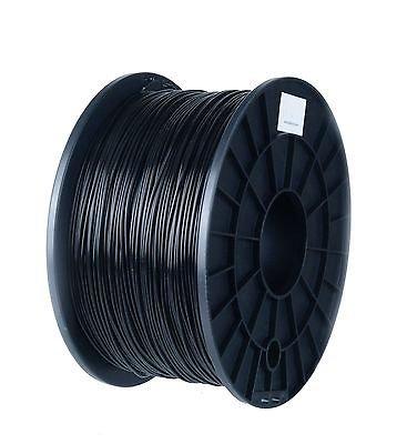 PLA Black Filament 1.75mm, 1kg / 2.2lb Printing Material Supply Spool for 3D Printer