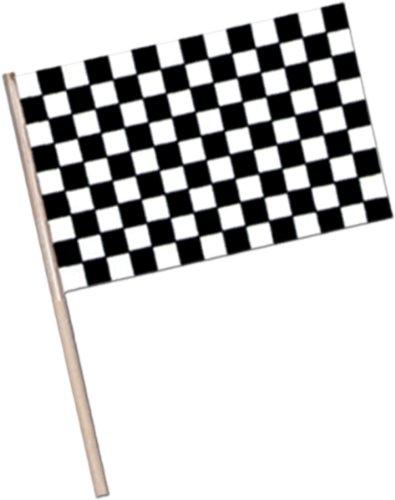 "Plastic Checkered Flag W/7.5"" Wooden Stick 4"" X 6"" [1152 Pieces] *** Product Description: An Insignia Of Formula1 Racing, This Checkered Flag Is Made Of Plastic With 7 1/2"" Wooden Dowel. Dimensions: 4"" X 6"" All Sales Final, No Returns ***"