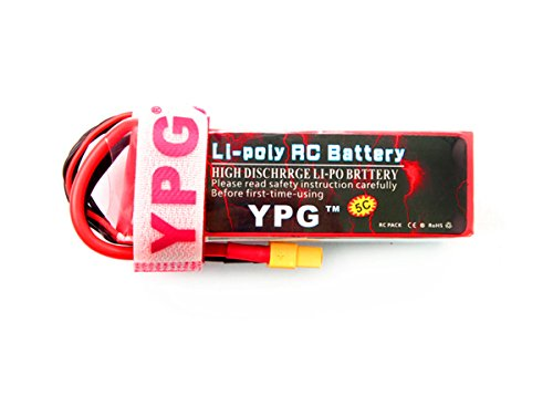 GARTT YPG 1800mAh6S22.2V60C LiPo Battery for SAB380 Align 470 ALZRC Devil 380 480 RC Helicopter Airplane Cars Truck Buggy Truggy Multicopter Drones
