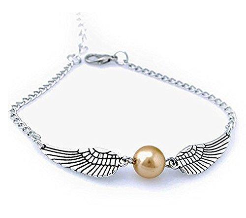 Harry Potter Golden Snitch Bracelets,Male and Female Common Stylish necklace By Simon (Silver) (Harry Potter Jewelry Necklace)
