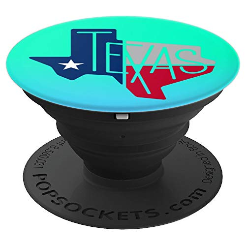 Beautiful Texas State Flag Star Silhouette - PopSockets Grip and Stand for Phones and Tablets