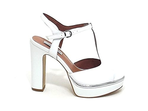 E8102 11342 Bianco Barachini Sandalo Scarpa Donna Pelle qY4CS