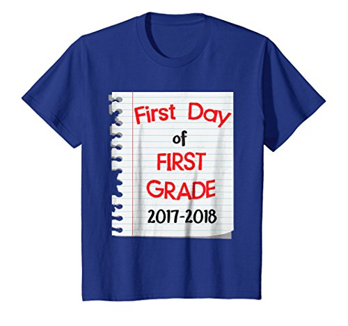 Price comparison product image Kids Back to School 2017 First Day 1st Grade Kid Cute T-Shirt 8 Royal Blue