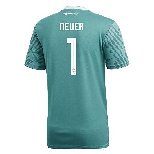 労苦知覚するブレークadidas NEUER # 1 Germany Away Soccer Stadium Jersey World Cup Russia 2018/サッカーユニフォーム ドイツ アウェイ用 ノイアー # 1