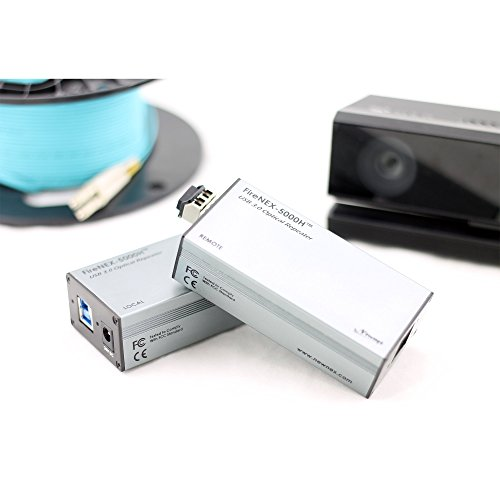 USB 3.0 Optical Link Extender/Repeater for Microsoft Kinect v2 (Kinect for Xbox One), Extend Kinect Signal Up to 100 Meters, 300 Feet, FireNEX-5000HK by Newnex