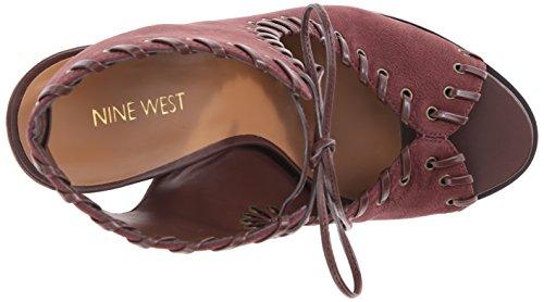 Nine West Hot Stuff Mujer Piel Tacones Dark Brown/Dark Brown