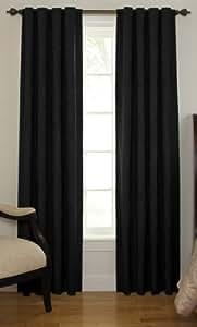 Beautyrest 11239042X108BK Chenille 42-Inch by 108-Inch Rod Pocket Single Window Curtain Panel, Black