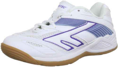 Hi-Tec Viper Court - Zapatos con cordones de material sintético mujer blanco - White/Lilac/Purple