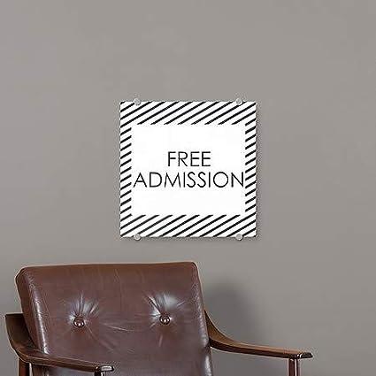 Entrance Nostalgia Stripes Premium Acrylic Sign 36x24 CGSignLab