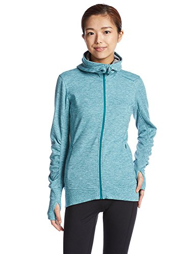 Brooks Women's Joyride Hoodie Heather Kale/Oxford Sweatshirt MD (Women's 8-10) Ride Womens Sweatshirt