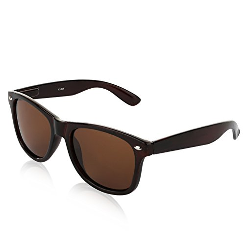 Womens Polarized Sunglasses For Men Big Flash Lens Best Cool Eye Glasses Brown