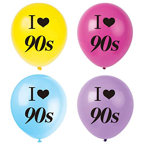 90s Themed Decorations (MAGJUCHE I Love 90s Balloons, 16pcs 1990s Throwback Themed Party Decorations,)