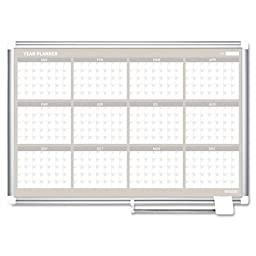 MasterVision Magnetic Gold Ultra 12 Month Dry Erase Planning Board, 36 x 48 Inches, Aluminum Frame (GA05106830)