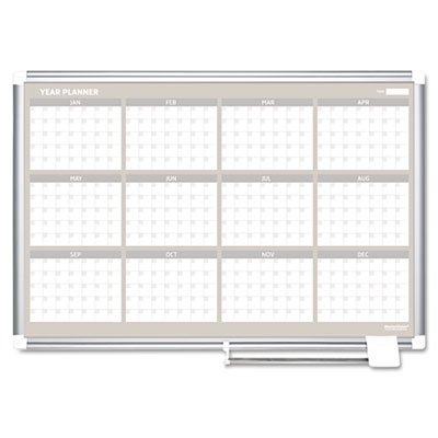 12 Month Planner, 48x36, Aluminum Frame, Sold as 1 Each