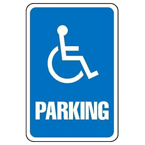 Amazon Parking Sign Handicap Symbol Aluminum 063mm Thick