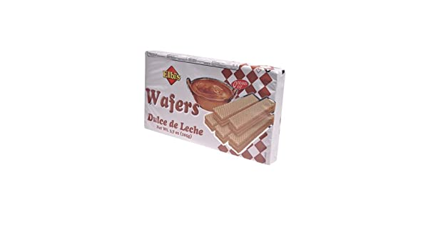 Amazon.com : Elbis Dulce De Leche Wafers, 3.7 oz : Grocery & Gourmet Food