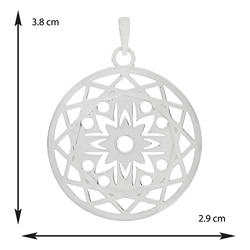 Jewelsimperia Silver Seven Chakra Meditaion Yoga Flower OF Life