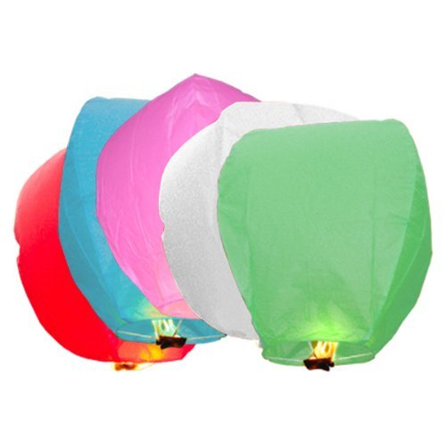 CITY 10 PCS Chinese Paper Sky Lanterns For Wishing, Birthday ,Wedding Party