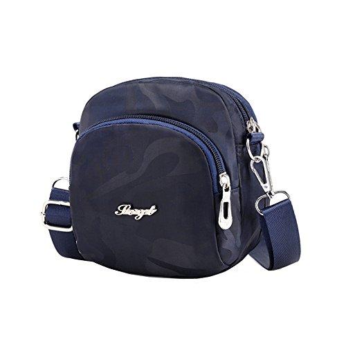 Mini Casual Crossbody Handbag Shoulder Bag Pouch Tote Purse Travel Bag Blue Camo