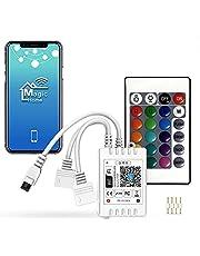 Możliwość przyciemniania za pomocą Bluetooth, ciepła biel, zimna biel, regulacja temperatury barwowej, kontroler do systemu Android/iOS 5V-28V, sterowanie głosem, funkcja timera