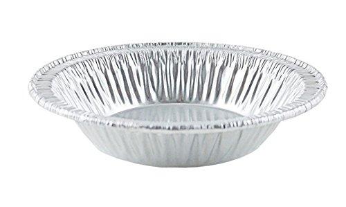 "D&W Fine Pack Wilkinson B10 4 1/4"" Aluminum Foil Tart Pan Disposable Baking Mini-Pie Plate Tin (pack of 25)"