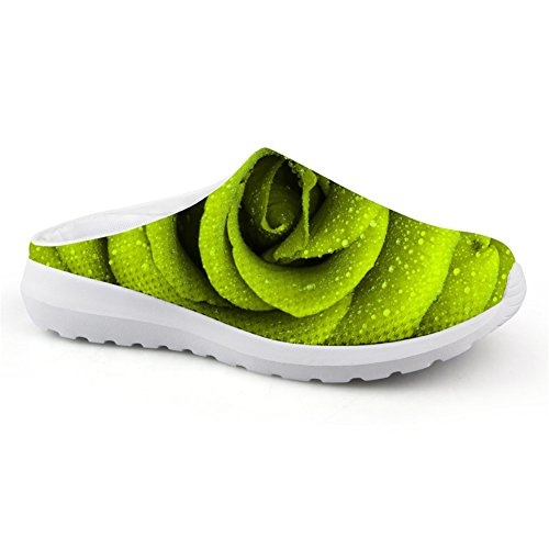 2016 New Women Sneakers Breathable Mesh Light Running Shoes (Green) - 7