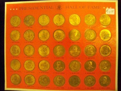 1968 Franklin Mint Presidential Hall of Fame 35 Coin Set