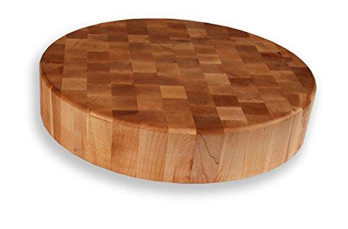 Round Maple Cutting Board/Chopping Block - End Grain - 3-1/2
