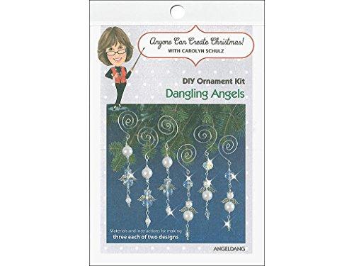 Solid Oak Kit Beaded Ornament Dangling Angels ORN