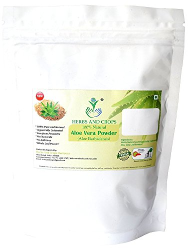 Herbs And Crops 100% Pure Natural Organically Grown Aloe Vera Powder (227g / (1/2 lb) / 8 ounces)
