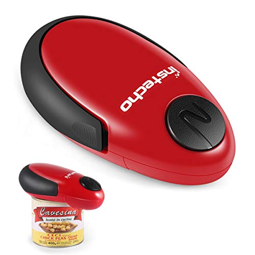 Electric Can Opener, Cakie Restaurant Can Opener Smooth Soft Edge One-touch Battery Automatic Electric Hands-free Can Opener For Kitchen Arthritis Elderly Travel and Chefs Best Choices (Red)