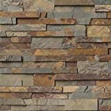 Gold Rush Slate Ledger Wall Panel 6 in. x 24 in. Natural Stone Tile - SMALL SAMPLE LISTING