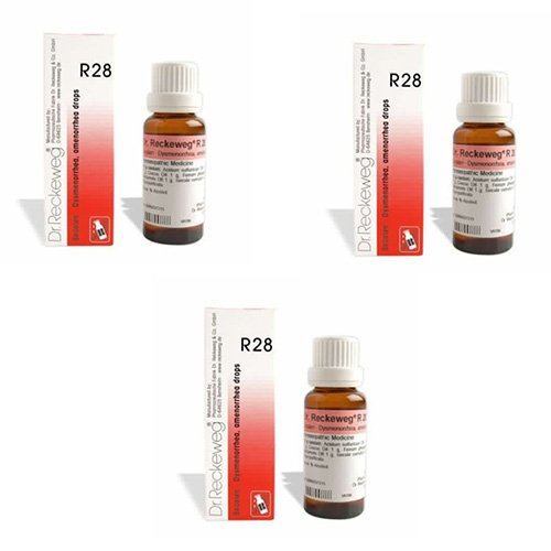 3 Lots X Dr.Reckeweg R 28 22Ml Homeopathic Medicine